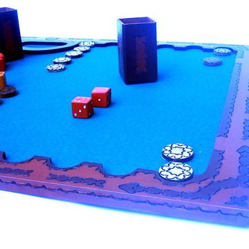 Jogo de Gamão - Modelo Nordestino Antigo Forrado - 80 x 50