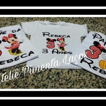 Camisetas Estampadas da Minnie e Mickey