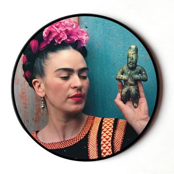 Quadro redondo Frida (Estátua)