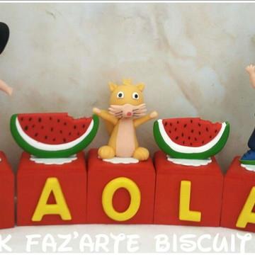 Cubos Decorativos O Show da Luna Biscuit