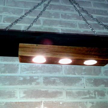 Luminaria completa com 3 lampadas Led