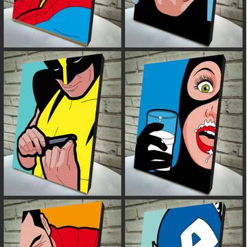 Combo Poster/Quadro Heróis