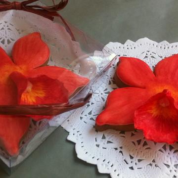 Biscoito Decorado Orquídeas
