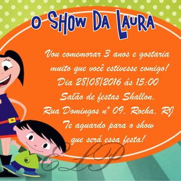 Convite O Show da Luna com Envelope