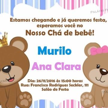 Convite Ursinhos Gemeos