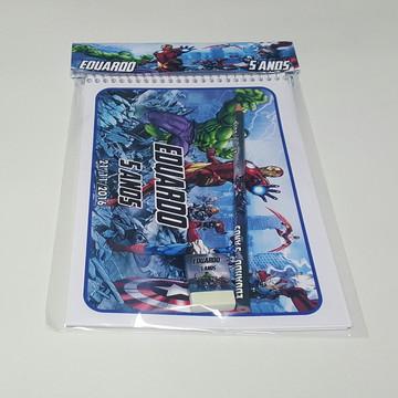 Caderno + Lápis + Borracha - Vingadores