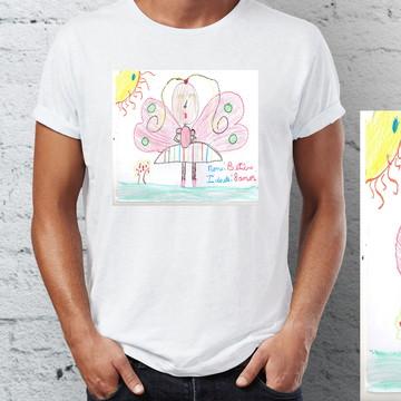 Camiseta com desenho do seu filho (a)