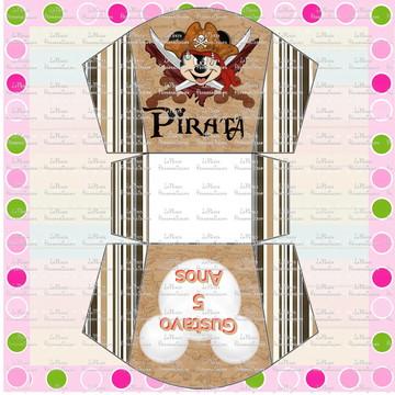 Cachepô Mickey Pirata
