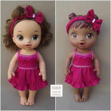 4be1484ad2 Vestido tiara Baby Alives MENORES (30cm)