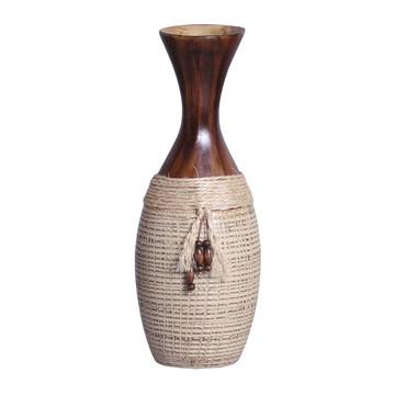 Vaso decorativo rústico Marrom e Bege