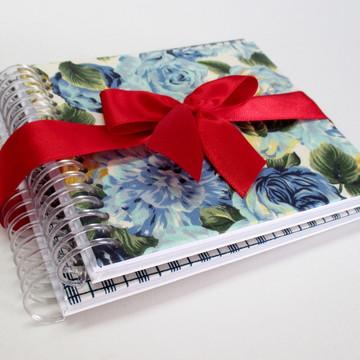 Cadernos Quadrado Floral e Xadrez