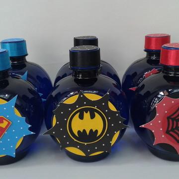Água personalizada Super Heróis