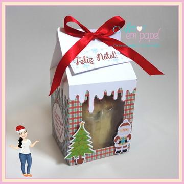 Caixa Mini Panetone - Caixa Milk Natal