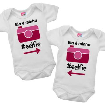 Body para Gêmeos - Selfie menina
