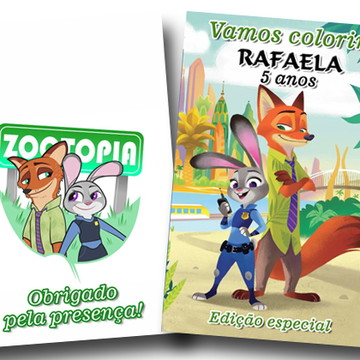 revista colorir zootopia 14x10