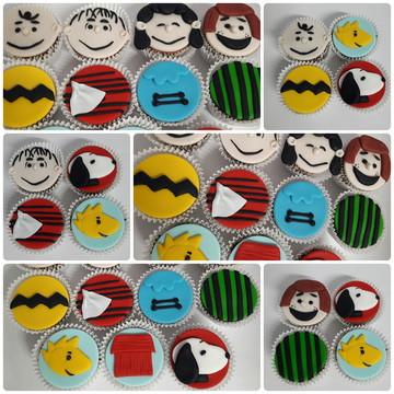 Mini cupcake Turma do Snoopy