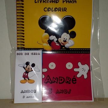 Kit Pintura + Giz de Cera Mickey
