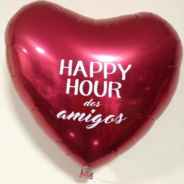 Balão de coração vermelho personalizado
