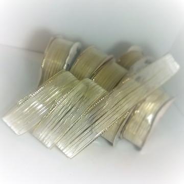 Fita Aramada Dourada transp. 23mm c/ 10m