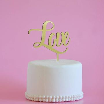 Topo de bolo Love Wedding