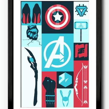 Quadro Super Herois - Avengers