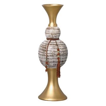 Vaso clássico Branco e dourado