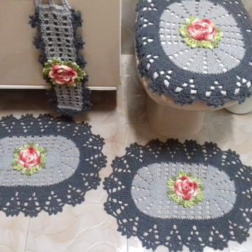 Jogo de banheiro Rosas