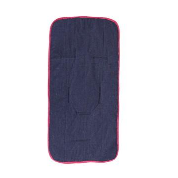 Capa para Carrinho de Bebê Azul Marinho Viés Rosa Pink