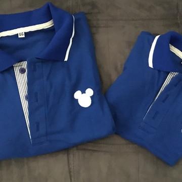 4ac6049048 Tal Pai Tal Filho (a) Camisa Polo Mickey