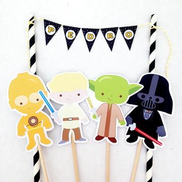 Star Wars topo de bolo