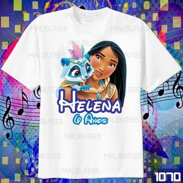 Camiseta Pocahontas Disney com Nome