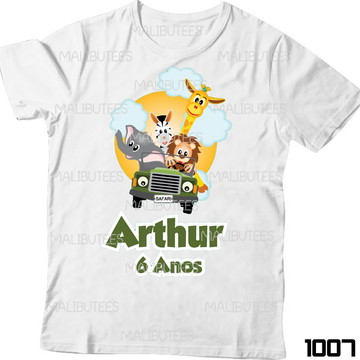 ab99616e17 Camisetas Animais Safari Selva com Nome
