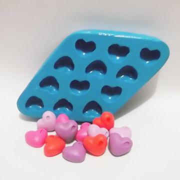Coração com Gota P - molde de silicone