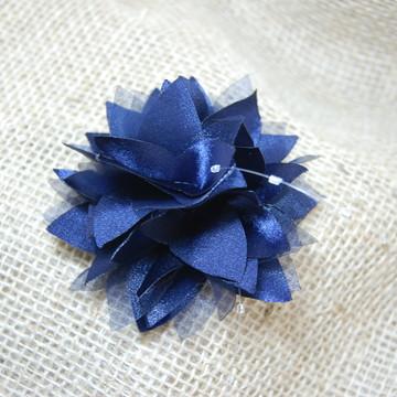 Flor para cabelo Dalia Azul Marinho M