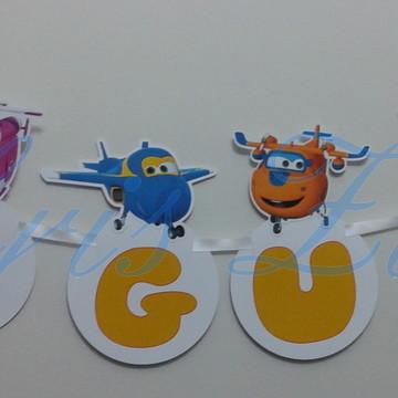 Varal Personalizado Super Wings