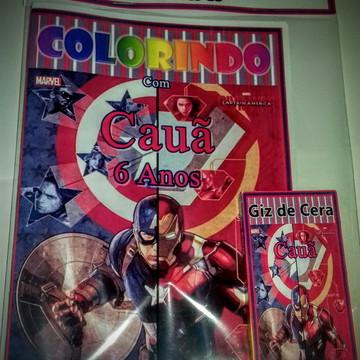 Kit de Colorir Personalizado Vingadores