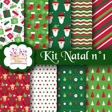 Kit digital Papéis Natal n°1