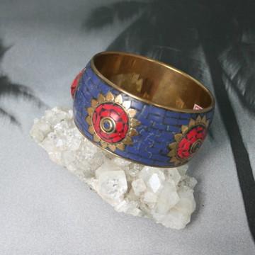 Pulseira Mosaico Coral Lapis Lazuli