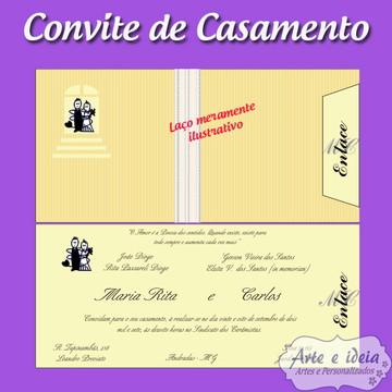 Convite Casamento Fino MODELO 1