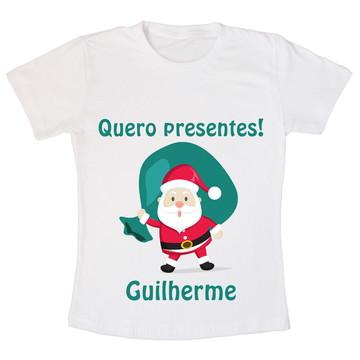 Camiseta Infantil Quero Presentes!