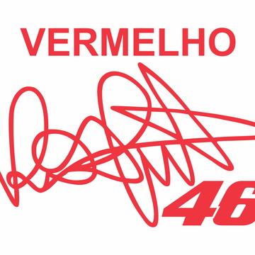 Adesivo Valentino Rossi Assinatura Motos