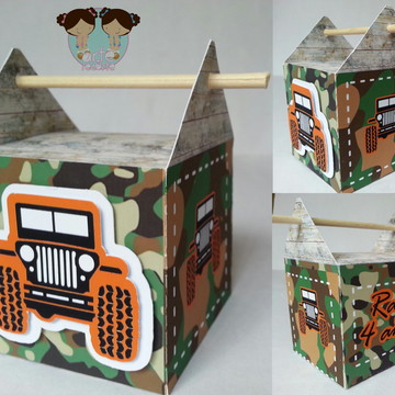 caixa palito festa jipe - jeep