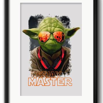 Quadro Yoda DJ Decoração com Paspatur