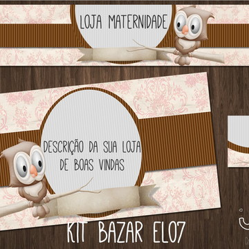 kit Elo7 corujinha