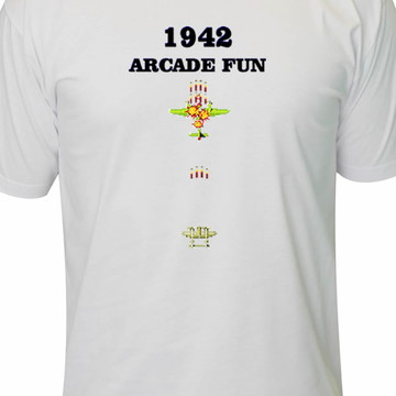 b633e683b Camiseta 1942 arcade fun game