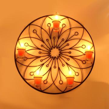 Mandala Flor Lótus 50 cm com velas