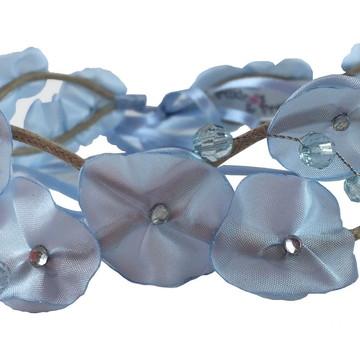 Headband Coroa de Fada Azul Bebê