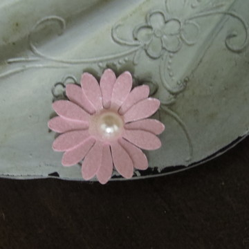Aplique Mini Flor de Papel