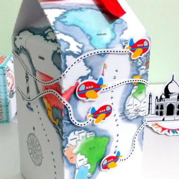 Caixa Milk Volta ao Mundo