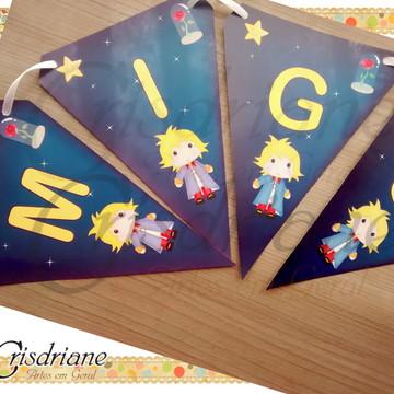 Bandeirola Pequeno Príncipe Azul